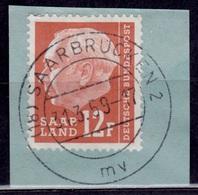 Saarland, 1957, Pres. Heuss, 12f, Used - 1957-59 Federation