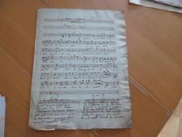 Partition Manuscrite 4 Pages Opéras Séparés Et Choisis 19ème - Opéra