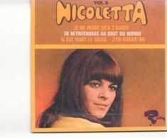 """CD 4 Titres Nicoletta Je Ne Pense Qu'a T'aimer, Tu M'entendras Au Bout Du Monde, Il Est Mort Le Soleil, J'en Aimais Un """" - Music & Instruments"""