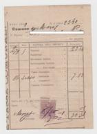 1900 - Comune Di Mores - Ricevuta Tasse Comunali Con Marca Da Bollo Da 5 Centesimi - A012 - Italia