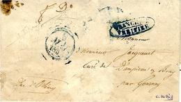 """1837- Le Duc D'Orléans """"  Manuscrit  + Franchise / Vérifiée  Sur Lettre à En-tête Du Secrétariat - Marcophilie (Lettres)"""