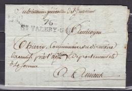 Somme Lettre De St Valery Sur Somme Avec  Marque L9 (ind 14) - Marcophilie (Lettres)