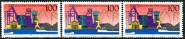 A12-16-4) BRD - 3x Michel 1558 - ** Postfrisch (B) - 100Pf       Rhein-Ruhr-Hafen Duisburg - [7] République Fédérale