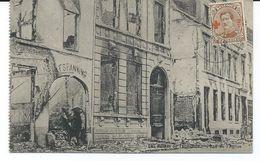 CPA De Termonde - Dendermonde Vers Gand Du 24-12-1918 Avec Numéro 151 (position 95 Du Panneau) 3 Scans. - 1918 Croix-Rouge