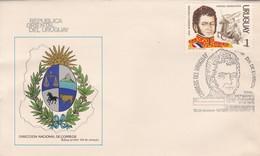 FDC. HEROES AMERICANOS: GRAL BERNARDO O'HIGGINS. URUGUAY.-TBE-BLEUP - Uruguay