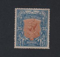 INDIA POSTAGE 1 ZEGEL MET GOM ONGEBRUIKT - India (...-1947)