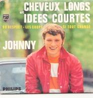 """CD 4 Titres Johnny """" Cheveux Longs Et Idées Courtes, Du Respect, Les Coups, Si Tout Change """" - Music & Instruments"""