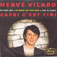 """CD 4 Titres Hervé Vilard """" Capri C'est Fini, On Verra Bien, Un Monde Fait Pour Nous, Jour De Chance """" - Music & Instruments"""