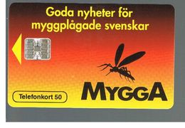 SVEZIA (SWEDEN) - TELIA  (CHIP) -  1993     MYGGA  - USED - RIF. 10025 - Sweden