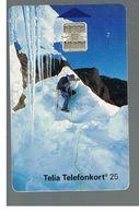 SVEZIA (SWEDEN) - TELIA  (CHIP) -  1993    GLACIER - USED - RIF. 10027 - Sweden