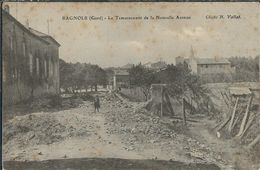 Gard : Bagnols Sur Céze, Le Terrassement De La Nouvelle Avenue - Bagnols-sur-Cèze