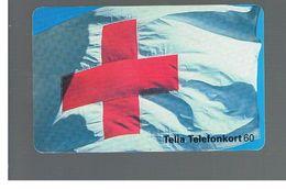 SVEZIA (SWEDEN) - TELIA  (CHIP) -  1994   RED CROSS             - USED - RIF. 10030 - Sweden