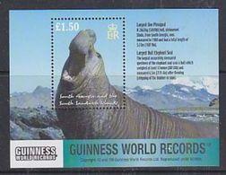 South Georgia 2002 Guinness World Records / Largest Bull Elephant Seal M/s ** Mnh (37922) - Zuid-Georgia