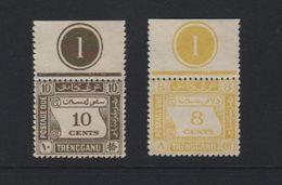 MALEISIE 1937 TRENGGANU  2 ZEGELS MET GOM ONGEBRUIKT - Borneo Del Nord (...-1963)