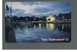SVEZIA (SWEDEN) - TELIA  (CHIP) -  1994   STOCKHOLM BY NIGHT             - USED - RIF. 10032 - Sweden