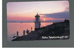 SVEZIA (SWEDEN) - TELIA  (CHIP) -  1994   MOLLOSUND, LIGHTHOUSE             - USED - RIF. 10034 - Sweden