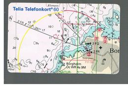 SVEZIA (SWEDEN) - TELIA  (CHIP) -  1994   MAP        - USED - RIF. 10036 - Sweden
