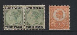 NATAL  1887   SOUTH AFRICA  ZEGELS MET GOM - Natal (1857-1909)