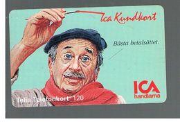 SVEZIA (SWEDEN) - TELIA  (CHIP) -  1994   ICA MAN       - USED - RIF. 10037 - Sweden