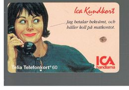 SVEZIA (SWEDEN) - TELIA  (CHIP) -  1994   ICA WOMAN       - USED - RIF. 10037 - Sweden
