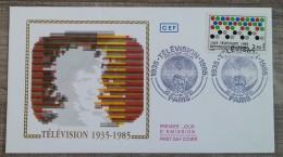 FDC 1985 - YT N°2353 - TELEVISION - PARIS - 1980-1989