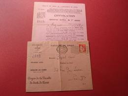 1934 FACULTE DE DROIT PARIS CONVOCATION - Diplômes & Bulletins Scolaires