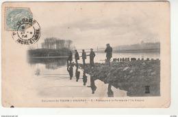 Excursion De Tours à Vouvray-Pêcheurs à La Pointe De L'Ile Ancare. - Tours
