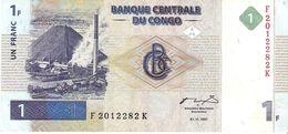 Congo - Pick 85 - 1 Franc 1997 - F - Rare - Congo