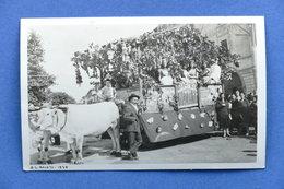 Cartolina Rovato - Carro Festa Con Buoi - 1930 - Brescia