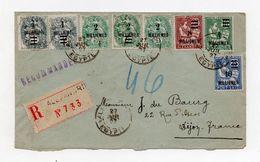 !!! PRIX FIXE : LETTRE RECO D'ALEXANDRIE DE 1927 AVEC AFFRANCH MIXTE ALEXANDRIE - PORT SAID - Lettres & Documents