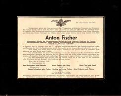 Certificat De Décès De Anton Fischer Du 19.02.1939 - Mortem - Historische Dokumente