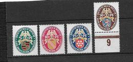 Mi.Nr.398-401++/ 1926 Nothilfe, Wappen** - Ungebraucht