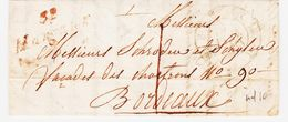 France, Cursive De  32 Margaux ( Gironde ) , Rouge , Taxe 1 , Ind 10  TB - 1801-1848: Vorläufer XIX