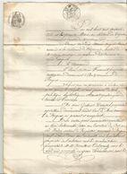 1863 : ACTE DE VENTE D UN PETIT IMMEUBLE SITUE DANS LA COMMUNE DE FARGUES DEVANT NOTAIRE DE MONTCUQ - Manuskripte