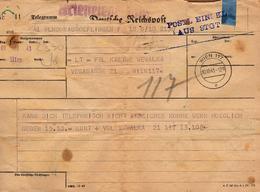 Télégramme Envoyé à Käthe Wewalka à Vienne Le 10.10.1943 De Son Fiancé Kurt - III Reich - Autres