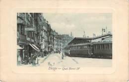 76 - Dieppe - Quai Henri IV (wagons De Train Ou Tramway) - Dieppe