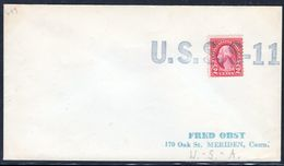 """US Navy, USS""""S-11""""  , 1933,great Cachet,  Look Scan, VERY RARE !! 12.3-59 - Sous-marins"""