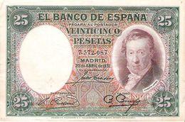 Spain - Pick 81 - 25 Pesetas 1931 - F+ - [ 2] 1931-1936 : Repubblica