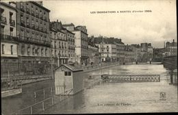 44 - NANTES - Inondations 1904 - écluses  De L'erdre - Cours Des 50 Otages - Nantes