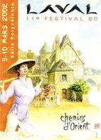 """VINK - CP """"CHEMINS D'ORIENT"""" 11è FESTIVAL BD LAVAL (2002) - Postcards"""