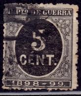Spain, 1898, War Tax, 5c, Sc#MR23, Used - Kriegssteuermarken