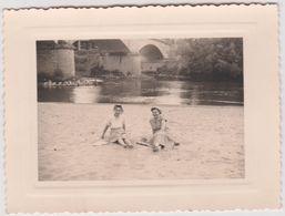 Vieux  Papier :   Photo Env. 11 Par 8 Cm : Landes : PONTONX Sur L ' Adour  1954 - Old Paper