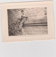 Vieux  Papier :   Photo Env. 11 Par 8 Cm : Landes : PONTONX Sur L ' Adour  1954, Au Pont - Old Paper