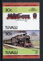 TRAINS - 1984 -  TUVALU  - Mi. Nr. 252/253 -  NH -  (UP.70.41) - Tuvalu