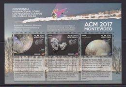 Uruguay (2017) - Block -  /  Espace - Space - Meteorit - Solar System - Galaxy - Astronomia