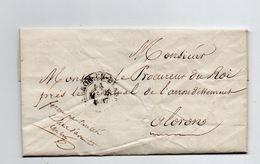 Oloron En Bearn. Lettre Du Procureur Du Roi. 1837. - Oloron Sainte Marie