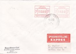 Enveloppe Avec Vignettes D'affranchissement De La Poste Valeurs Elevées - P 3005 - Spoedbestelling EXPRES - 1982 - Postage Labels
