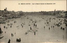 44 - NANTES - Ancien Nantes - Barbin - Erdre - Sur La Glace - Patinage - Nantes