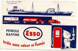 Buvard  Esso Petrole Raffiné  Brule Sans Odeur Ni Fumée.. - Öl & Benzin