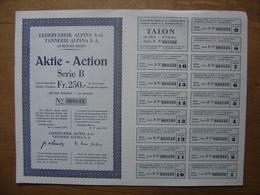 Bond Action Titre LEDERFABRIK ALPINA A G TANNERIE S A GUMLIGEN BERN Emprunt - Actions & Titres